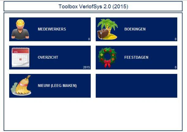 Excel Verlof Registratie Tool
